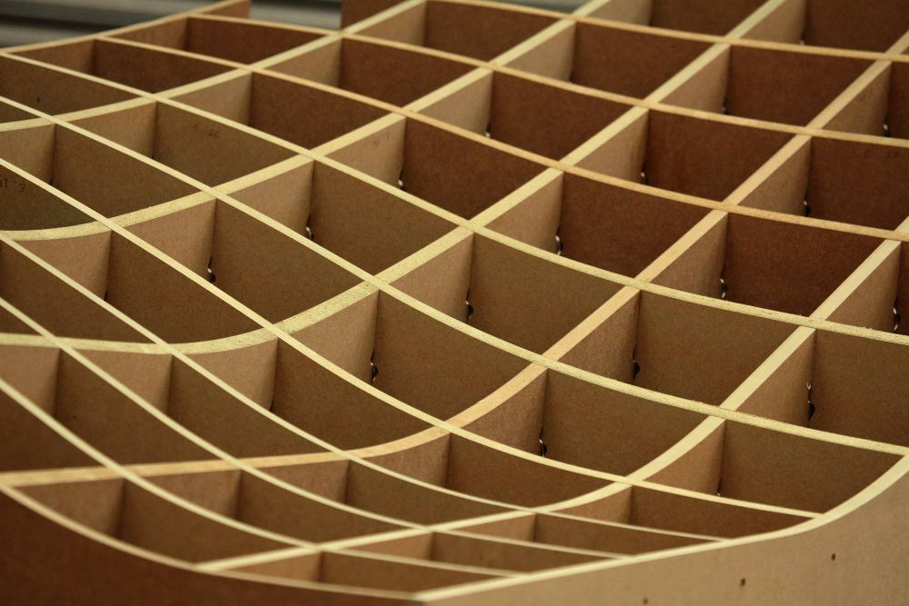 3D contoured lattice machined on 5-axis cnc