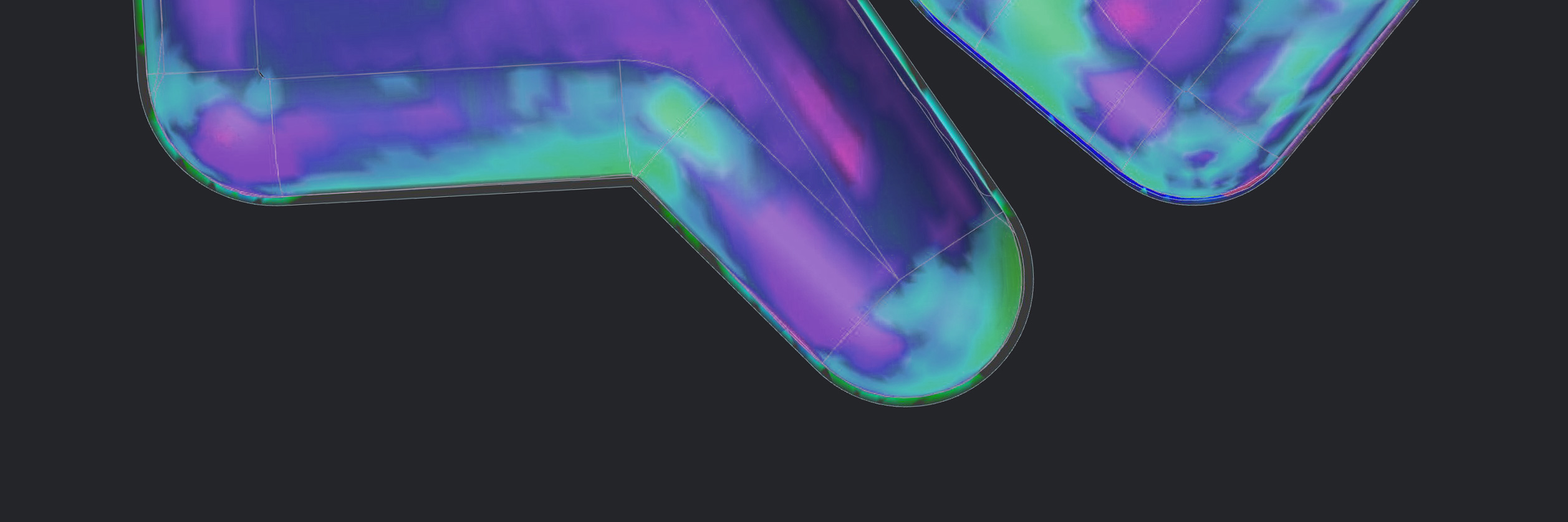 FEA face analysis performed in Siemens NX of a skatepark bowl structure